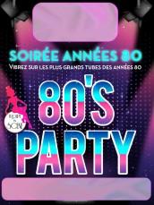 Affiche 80's Party